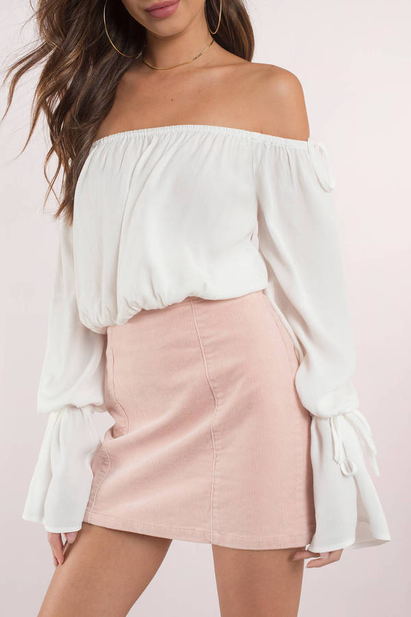 b3cdea05739 Cute Top - Off Shoulder Top - Bell Sleeve Top - White Blouse - £16 ...