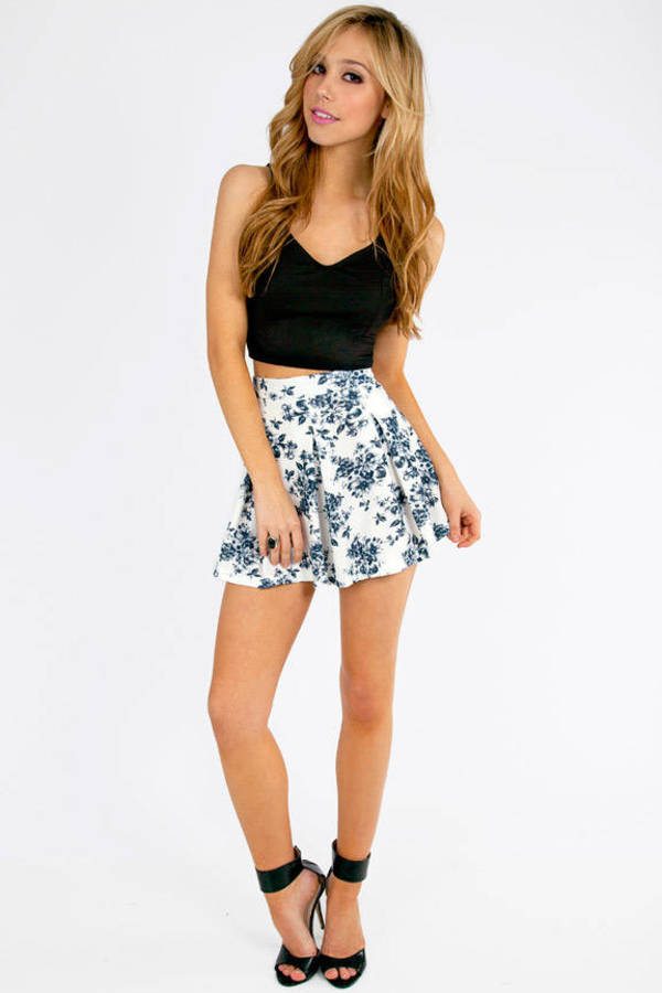 Floral It's Worth Skater Skirt