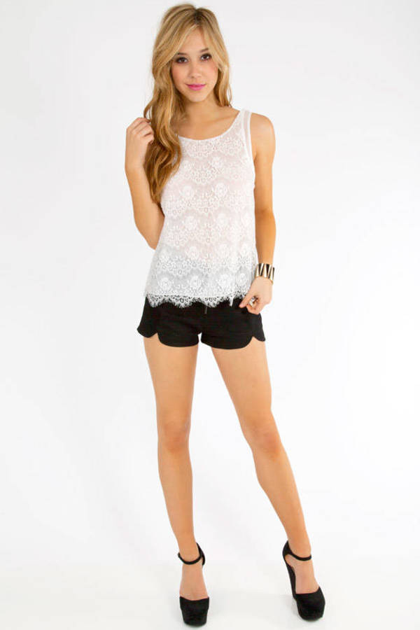 Open Back Olga Lace Tank