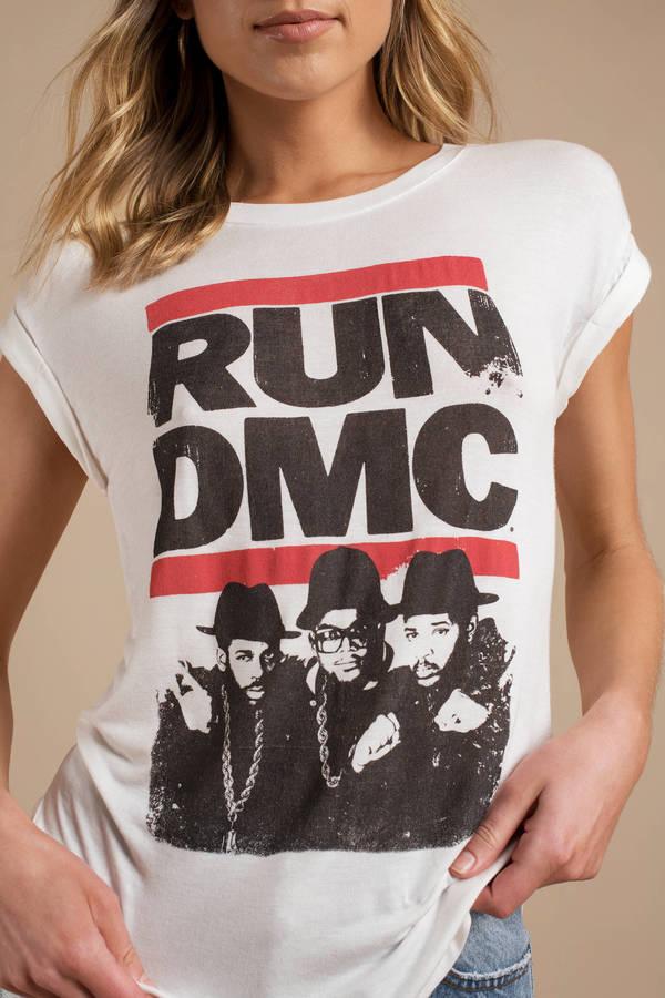 111ba910 ... Daydreamer Los Angeles Daydreamer Run Dmc Band White Short Sleeve Tee  ...