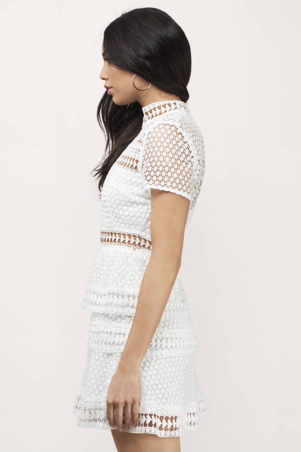 Sincerely Yours White Lace Dress