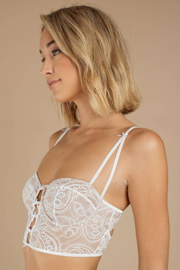 3b39d962a9839 ... For Love and Lemons For Love And Lemons Sophie White Corset Bra ...
