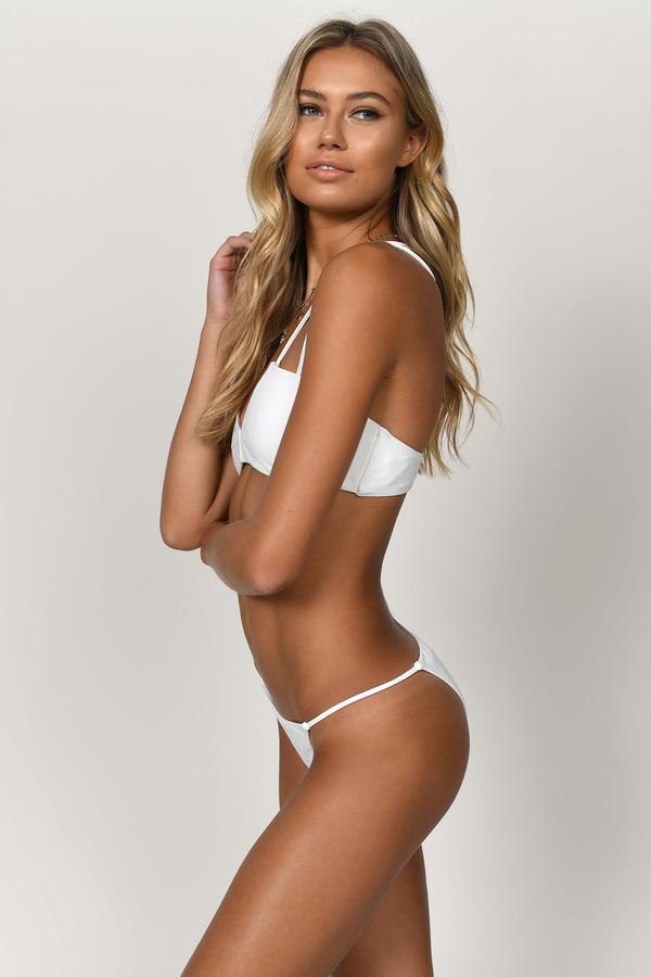 1dbef4a6b09 White Swimwear - White String Bikini Bottom - White Bikini Bottom ...