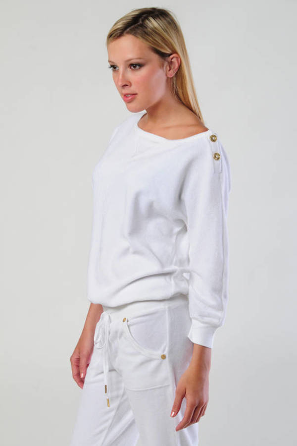 aa384777a30e Juicy Couture White Terry Dolman Sleeve Jumpsuit Juicy Couture White Terry  Dolman Sleeve Jumpsuit ...
