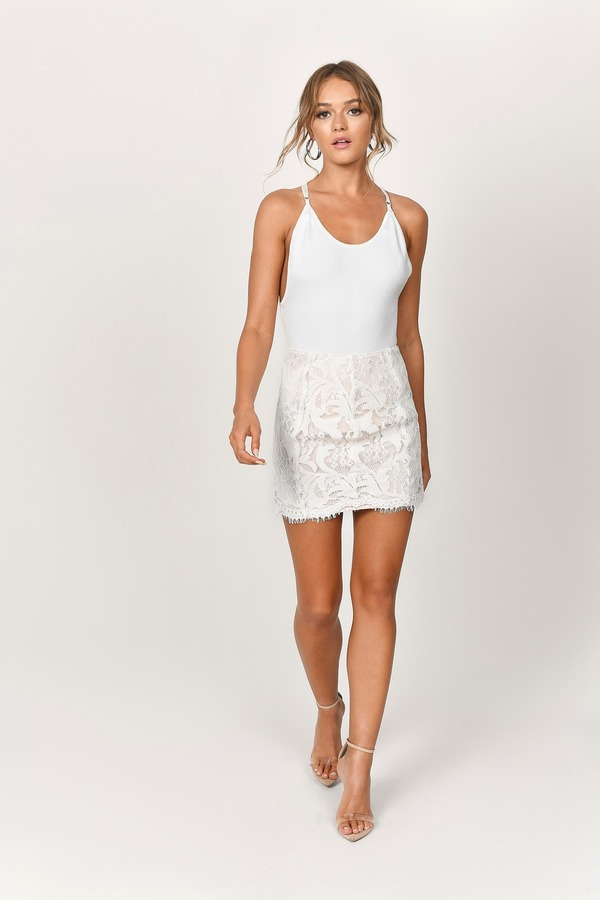 a2cbc36bfcc5c Together As One White Scalloped Skirt Together As One White Scalloped Skirt  ...
