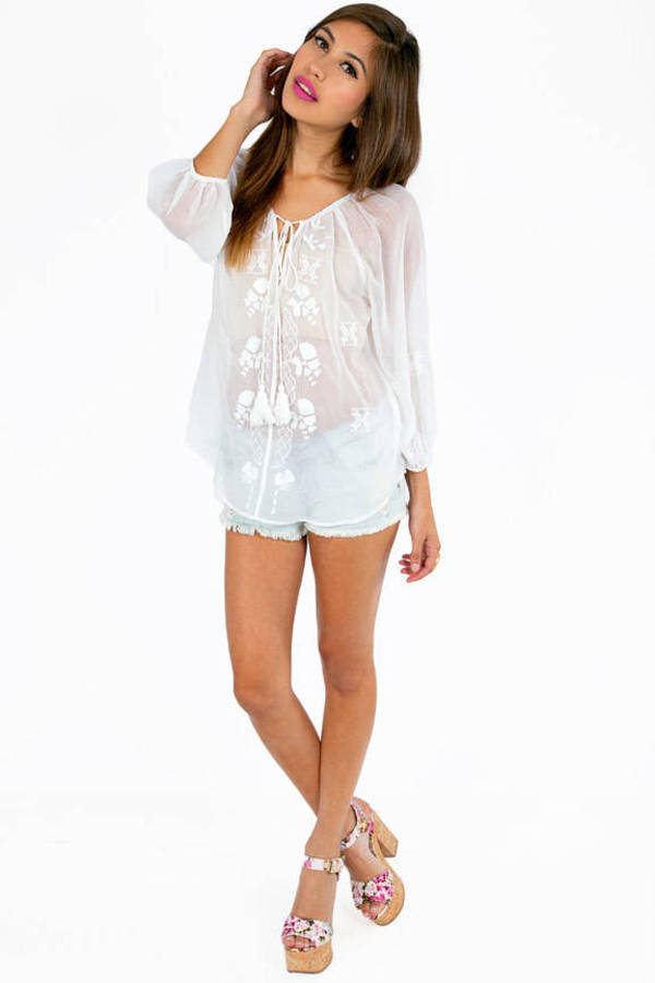 Twin Tassels Blouse
