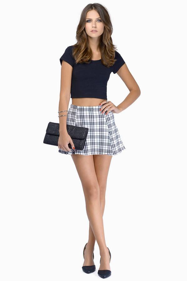 Valley Cameo Plaid Skirt