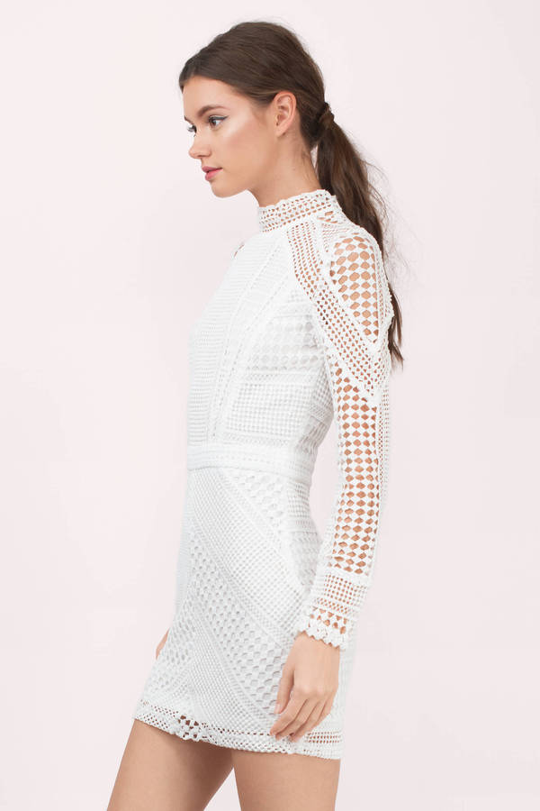Zoey White Lace Bodycon Dress