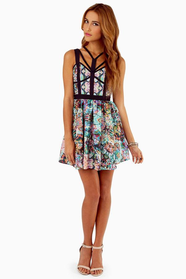 Keepsake Northern Lights Mini Dress