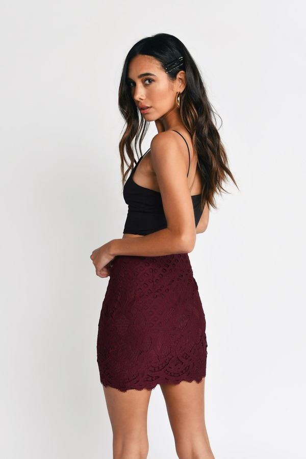 Forever Black Lace Mini Skirt - $40.00 | Tobi