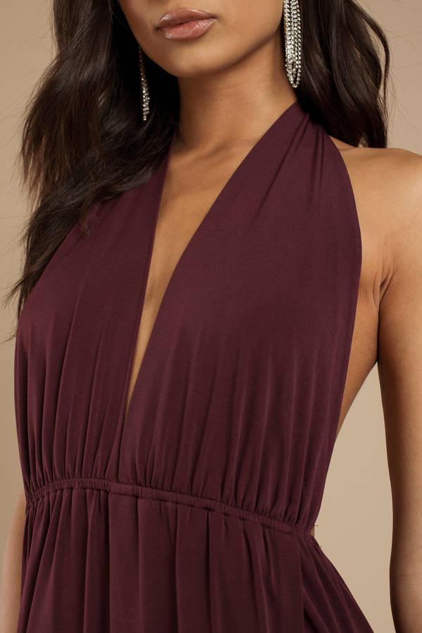 c7ea31cc7 Grey Maxi Dress - Open Shoulder Maxi Dress - Grey Halter Dress - AU ...