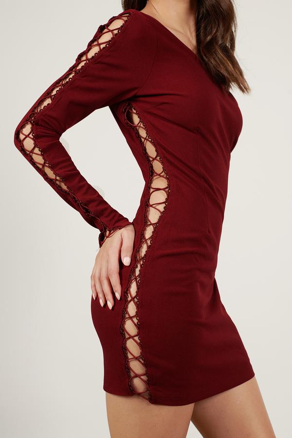 014df111ec ... Tobi Red Dresses, Wine, Sarah One Shoulder Bodycon Dress, Tobi