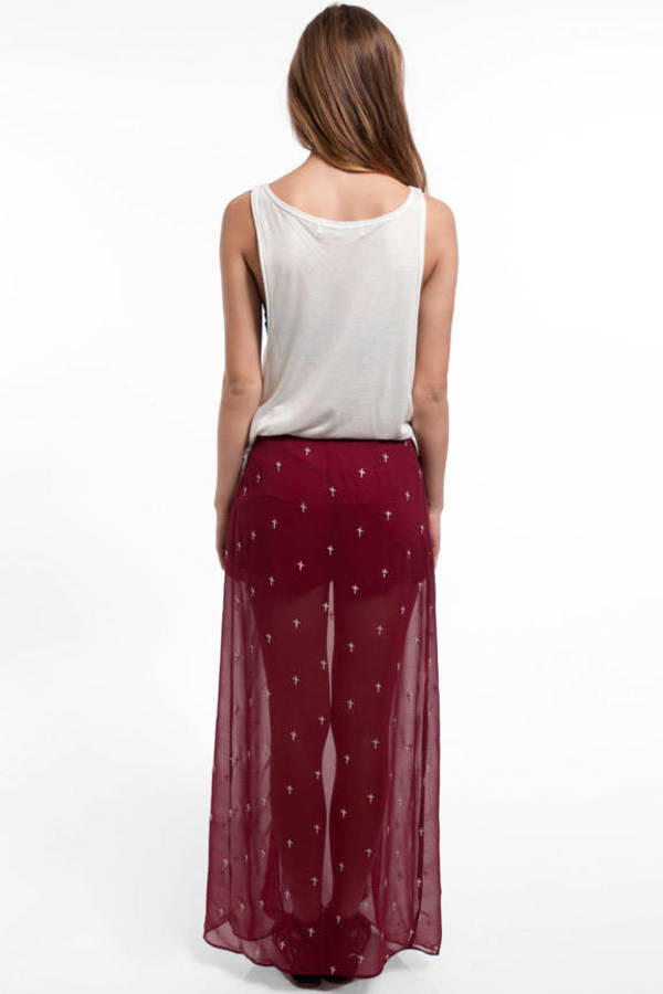 Wrapped and Stitched Maxi Skirt