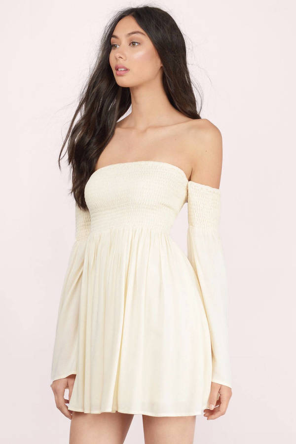 Yellow Skater Dress - Yellow Dress - Bell Sleeve Dress - $74.00