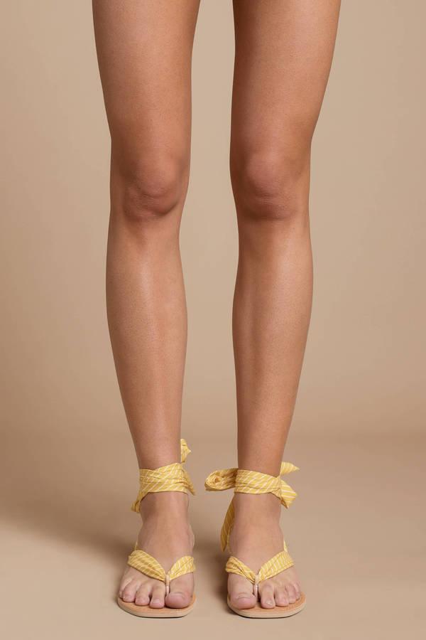 Henlee Ribbon Tie Sandal