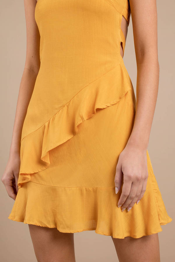 6978f70253 Yellow Skater Dress - Strapless Dress - Yellow Tube Top Dress - € 45 ...