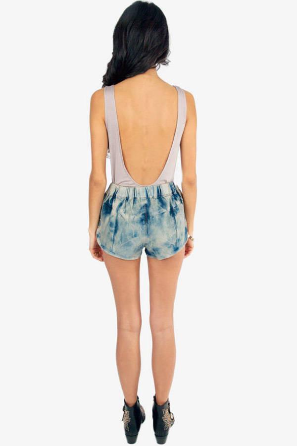 Superstar Acid Denim Shorts