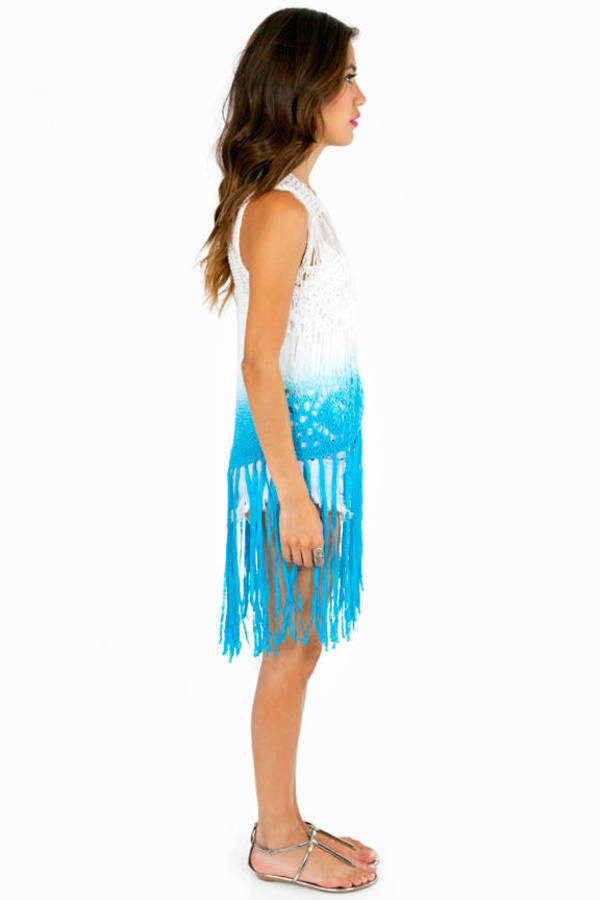 Friendly Fringe Ombre Vest