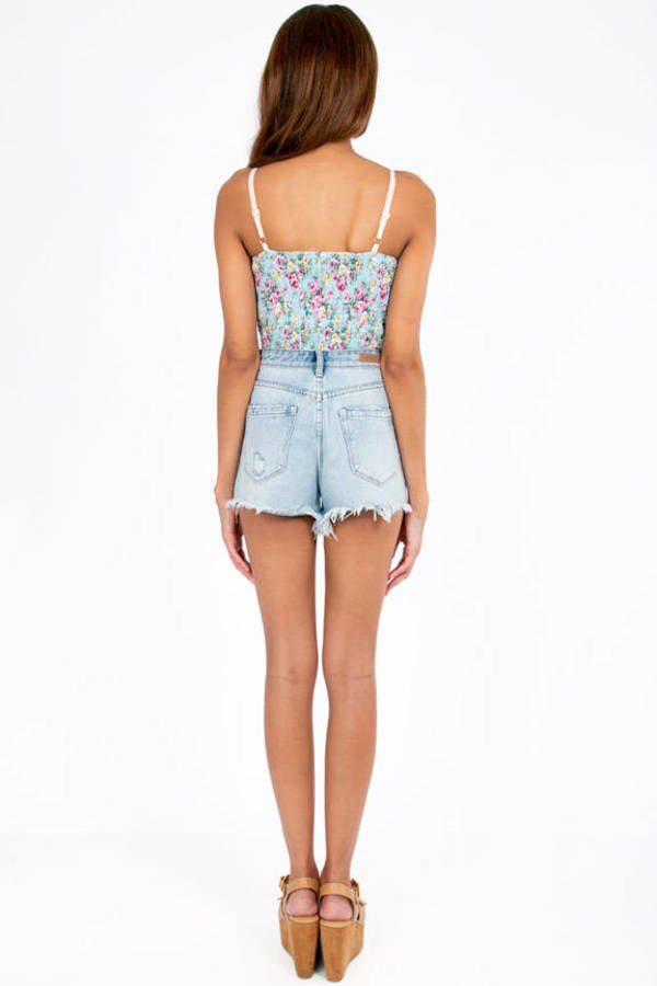 Floral Cup Bustier