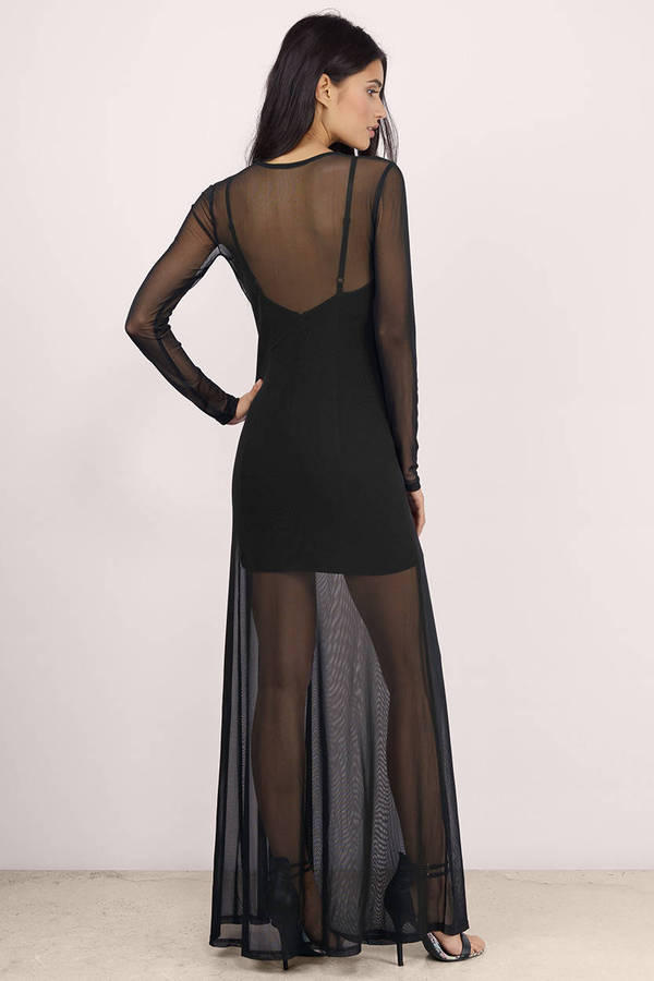 e4ce84303a Black Maxi Dress - Black Dress - Long Sleeve Dress - Black Maxi ...