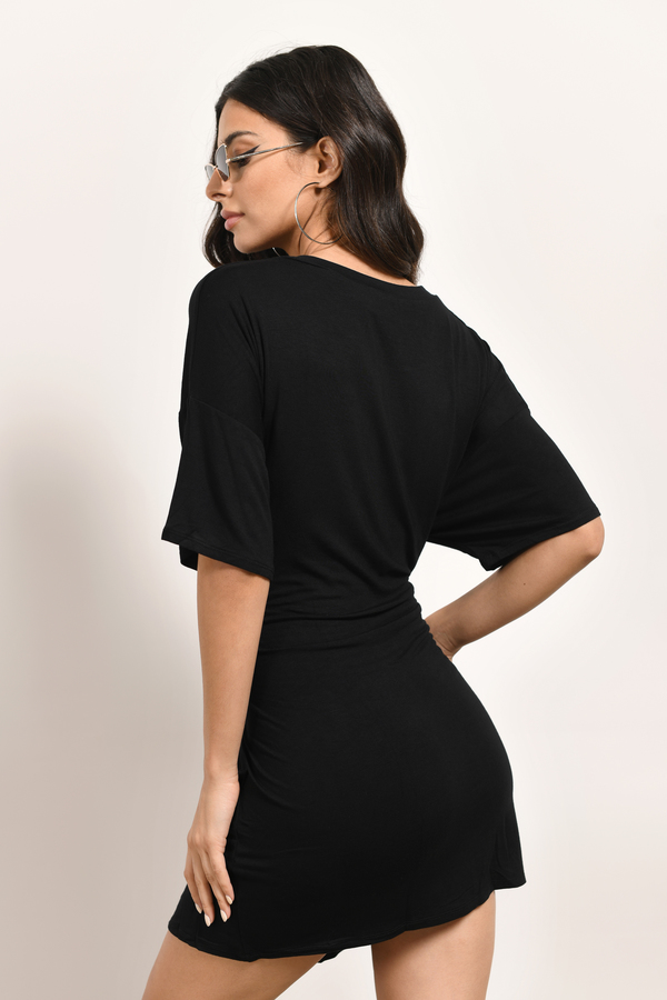 Black Dress Corset Dress Half Sleeve Black Dress Shift Dress