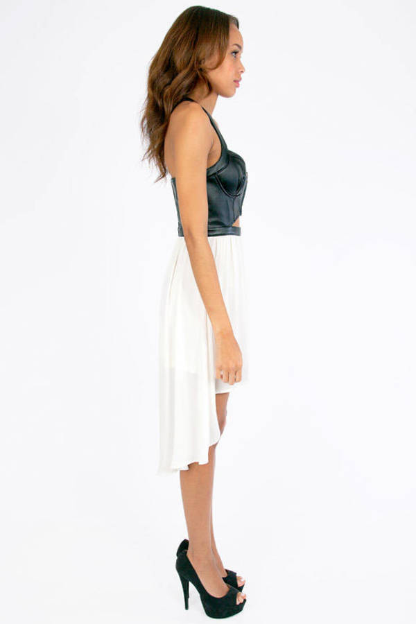 Abdoni Bustier Contrast Dress