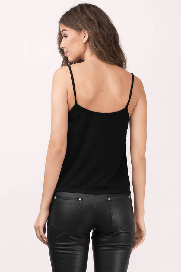 Tanks and camis come with a variety of different style elements, such as neckline and detailing. Comfy, racerback women's tank tops are perfect for a range of activities, whereas flirty V-neck tops can work for both dinner and casual coffee runs.