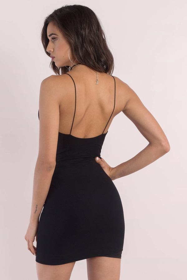 Cute Black Dress Ribbed Dress Black Stretch Dress Bodycon