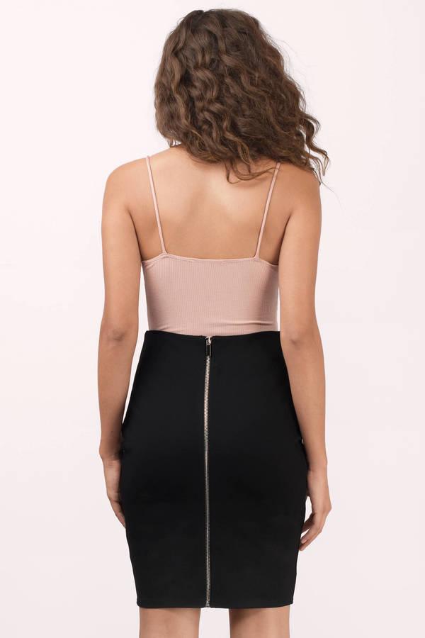 Black Skirt - High Waisted Skirt - Pencil Skirt - Black Pencil ...