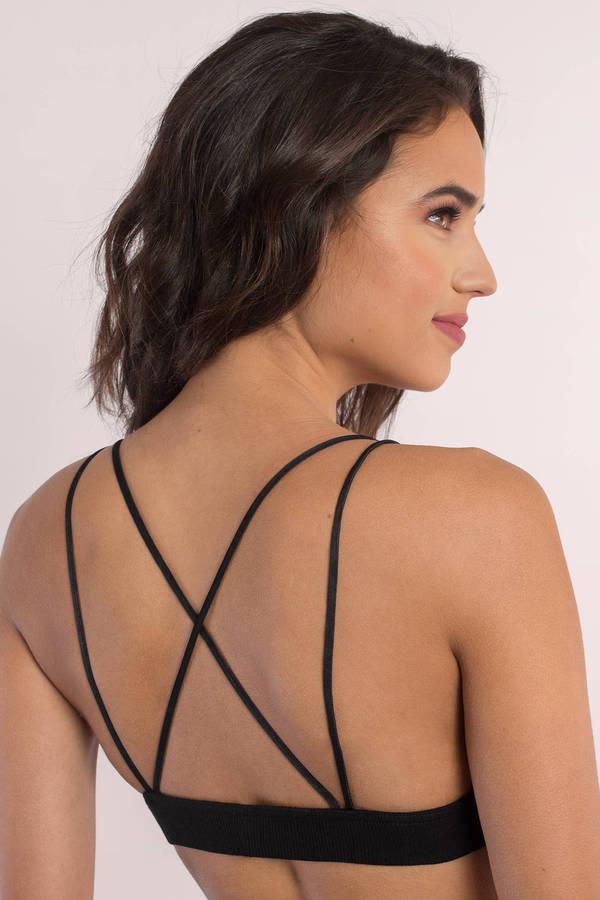 d03fa9697b Cute Black Intimates - Ribbed Intimates - Bikini Bralette - Black ...