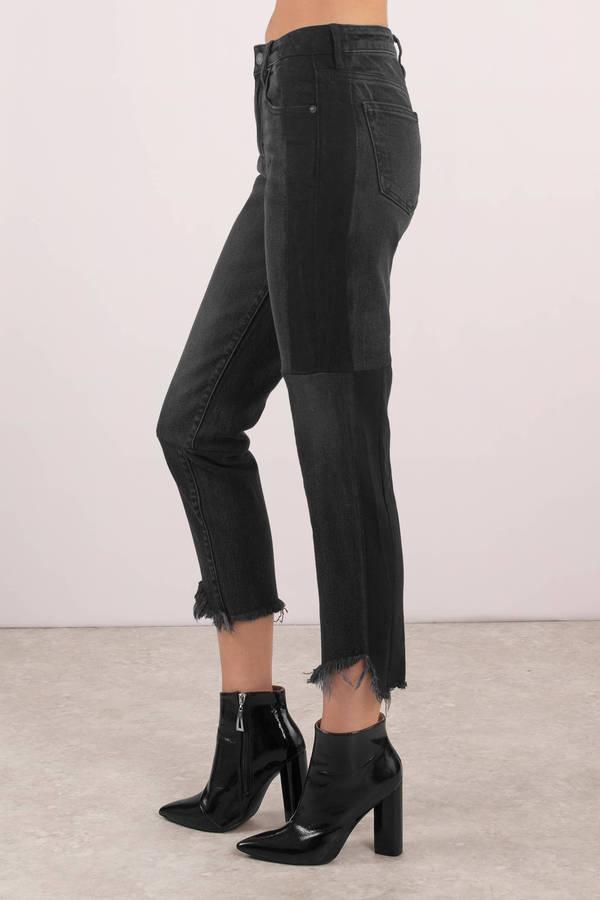 ... Hidden Jeans Hidden Jeans Ayla Black Two Tone Denim Pants ...