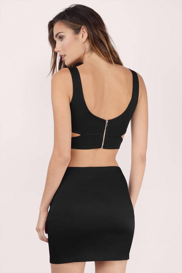 c965928b0dde Sexy Black Bodycon Dress - Two Piece Dress - Bodycon Dress - C  35 ...
