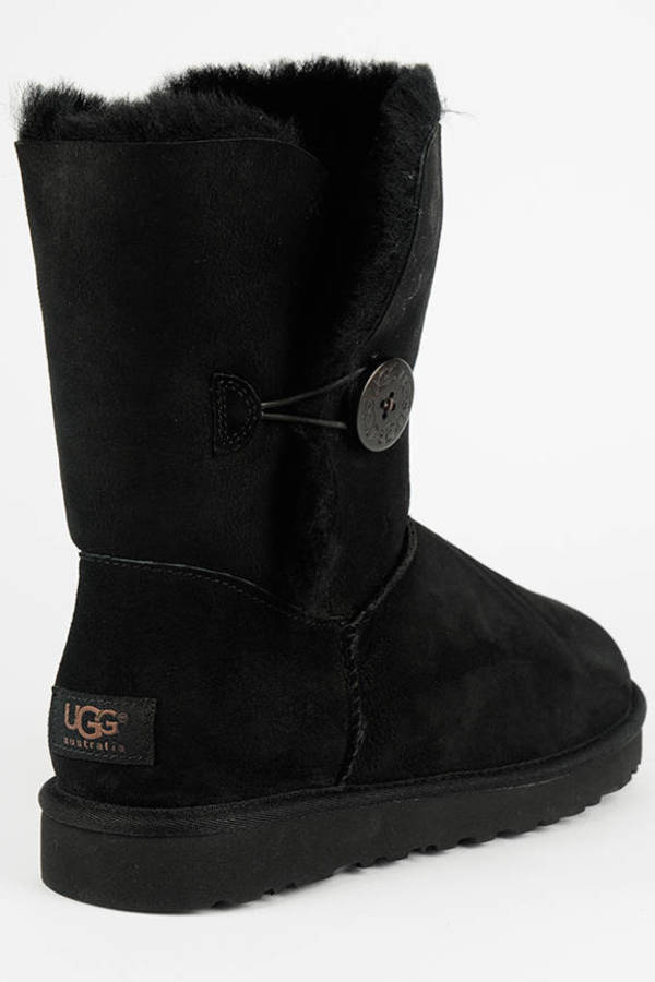 ... UGG Black Bailey Button Sheepskin Boots ...