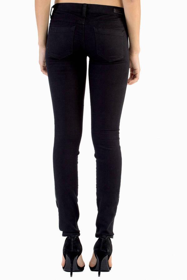 Blank Black Hole Skinny Pants