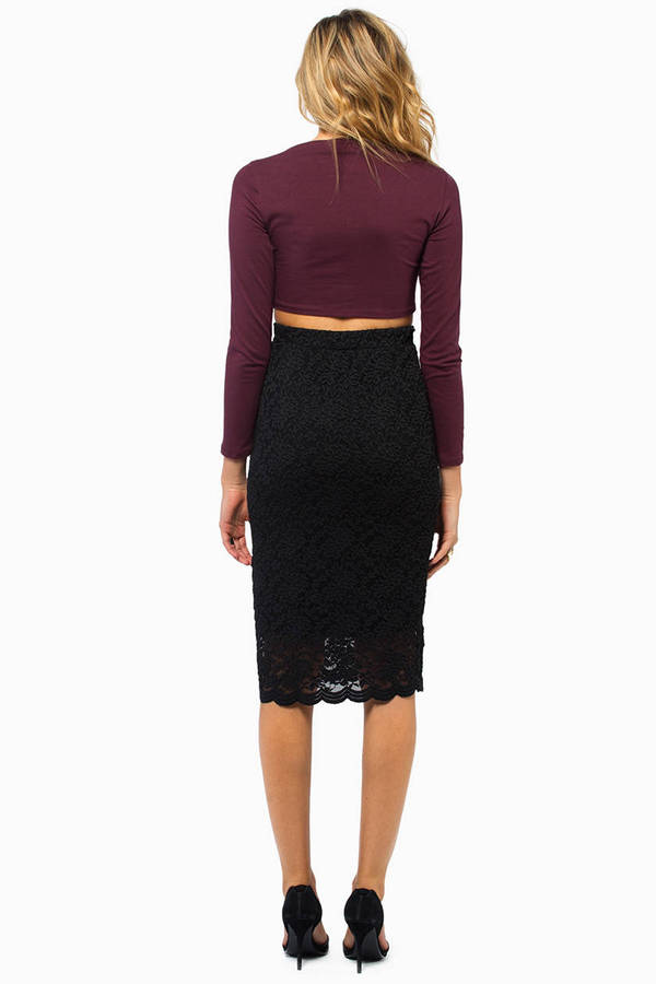 Blackout Lace Skirt