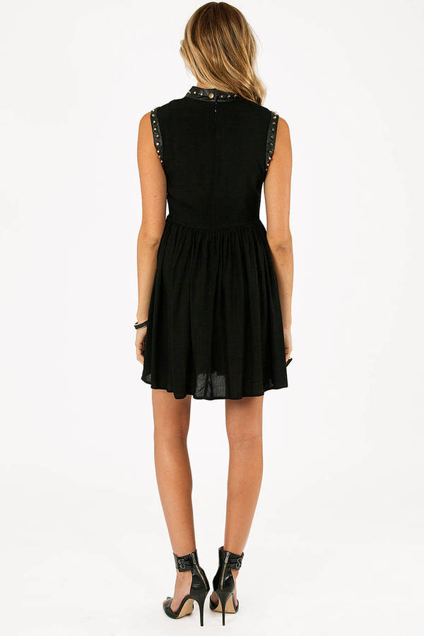 Brandi Sleeveless Studded Dress