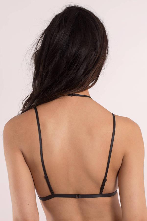 1022e5649be17 Sexy Black Intimates - Choker Intimates - Bikini Bralette - Black ...