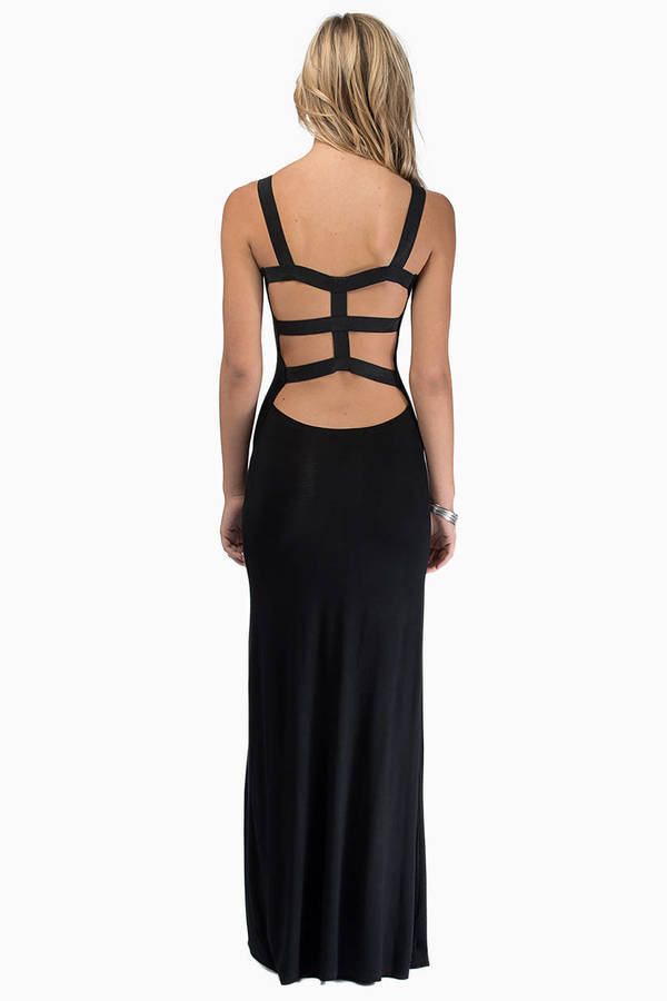 Caged Back Maxi Dress