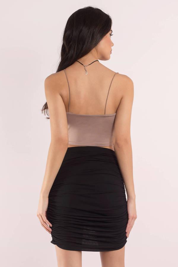 Caitin Black Mini Wrap Skirt - $48.00   Tobi