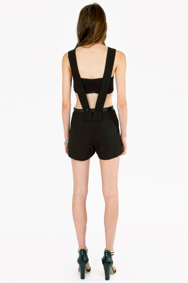 Carley Cutout Overall Shorts