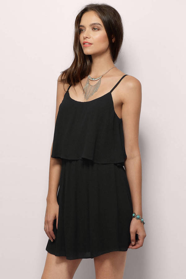 2701bec9491 Cute Black Skater Dress - Open Back Dress - Skater Dress - € 15 ...