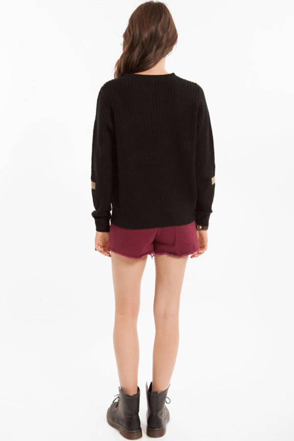 Cross Patch Knit Sweater