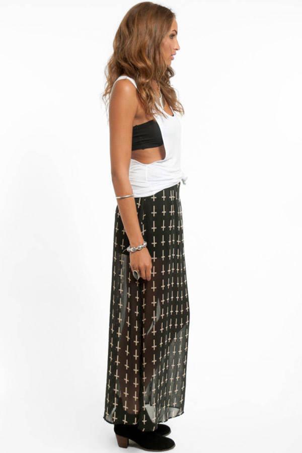 Cross Walk Maxi Skirt