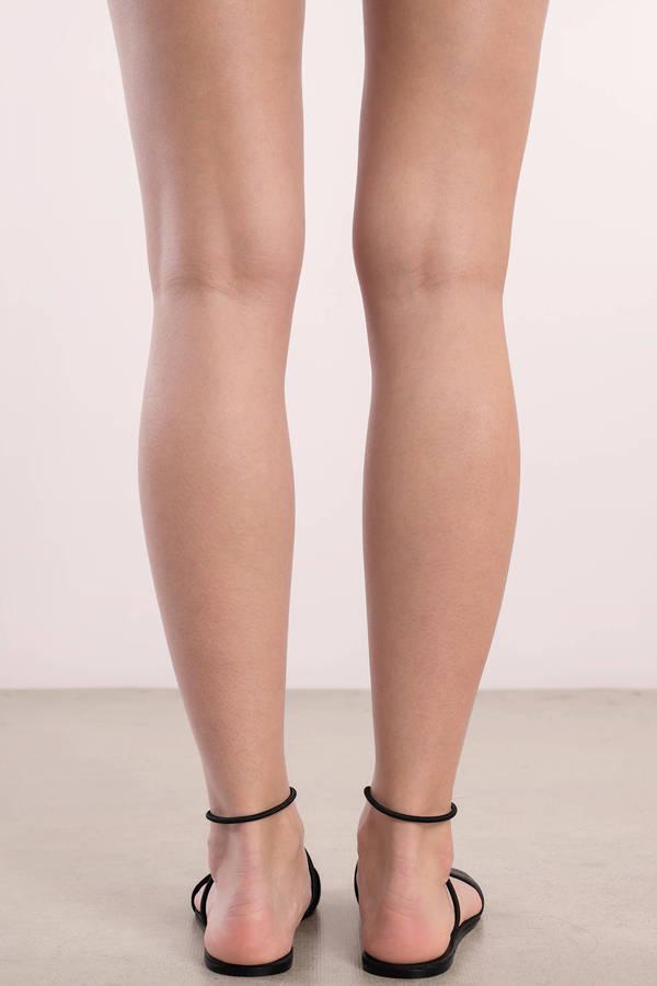Dolce Vita Dara Black Ankle Strap Sandals | Tobi