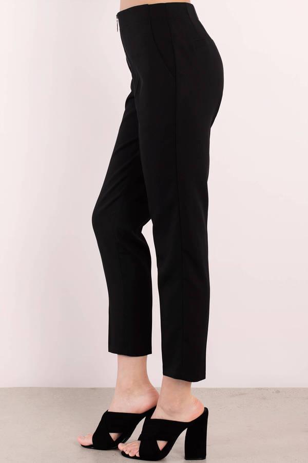 Cute Black Pants - Slim Fit Pants - Black Pants - $50.00