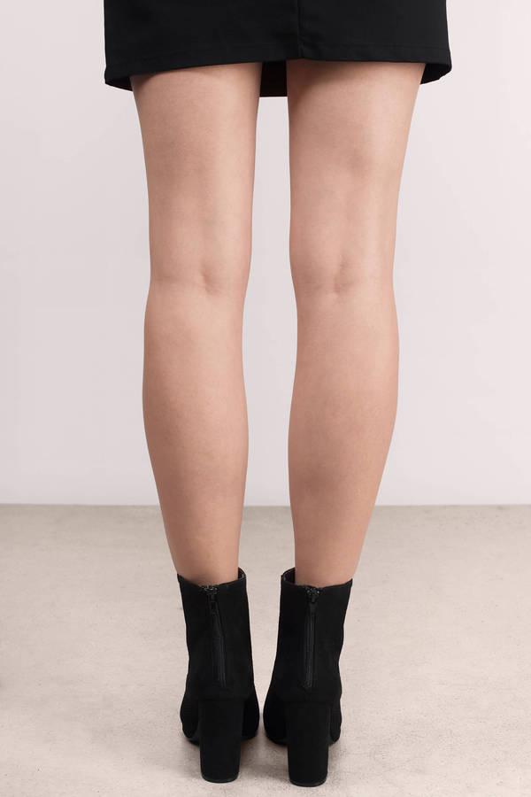 7fee1f2407e8 Black Booties - Black Heels - Peep Toe Booties - Black Booties - $66 ...