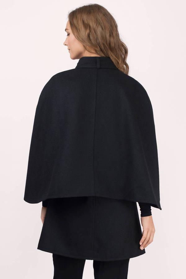 Cheap Black Coat - Black Coat - Cape Coat - Black Coat - $51.00