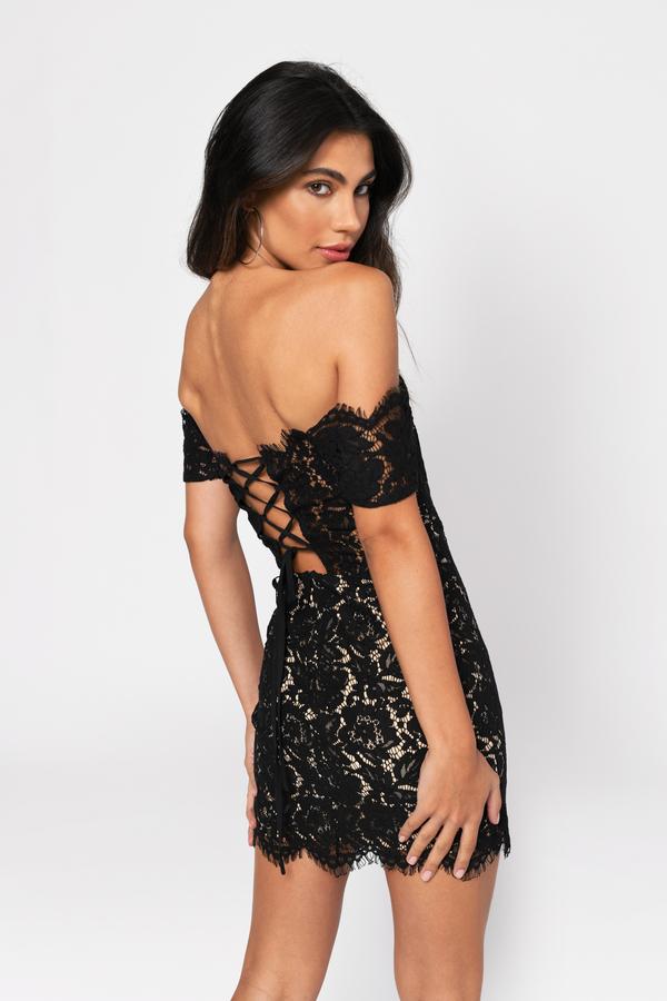 Black Bodycon Dress Off Shoulder Dress Short Black Formal Dress