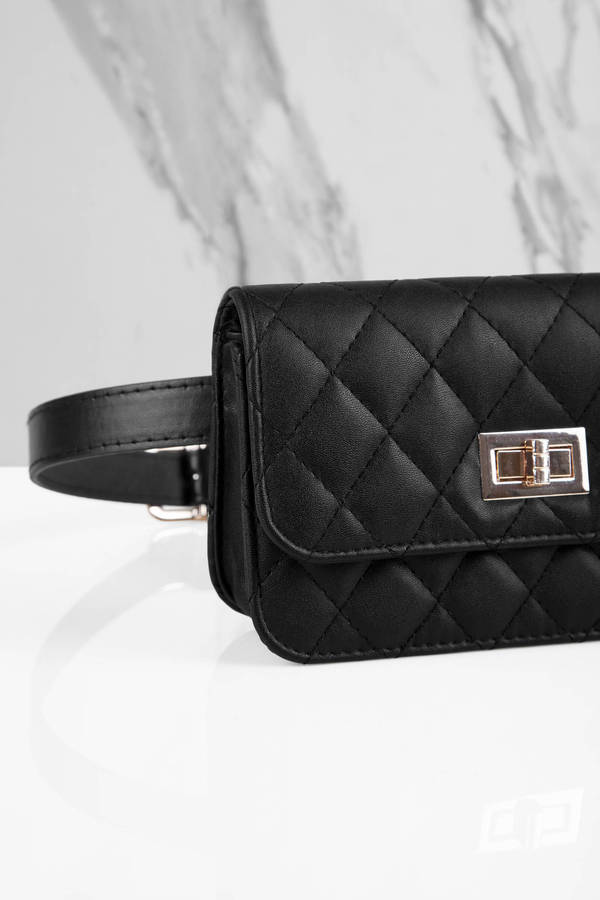 Everything Nice Black Quilted Fanny Pack - 40  Tobi Us-2806
