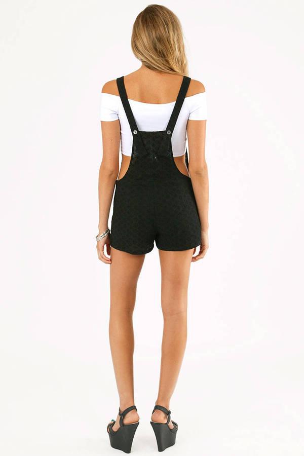 Eyelet Overall Shorts